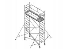 Echafaudage Roulant Acier - 0.67x1.90m - Hauteur 3/4.5/6/9M HP - Comabi - Généris 750