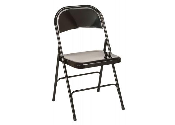 chaise pliante noire klm location. Black Bedroom Furniture Sets. Home Design Ideas