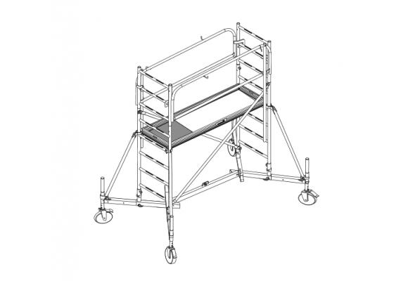 echafaudage roulant acier hauteur hauteur plancher comabi g n ris. Black Bedroom Furniture Sets. Home Design Ideas