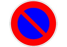 Panneau - interdiction de stationnner