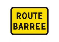 Panneau -  Route Barrée - 800X600 - Classe T1