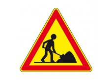 Panneau - Attention Travaux  - 1000mm -  Classe T2 - AK5